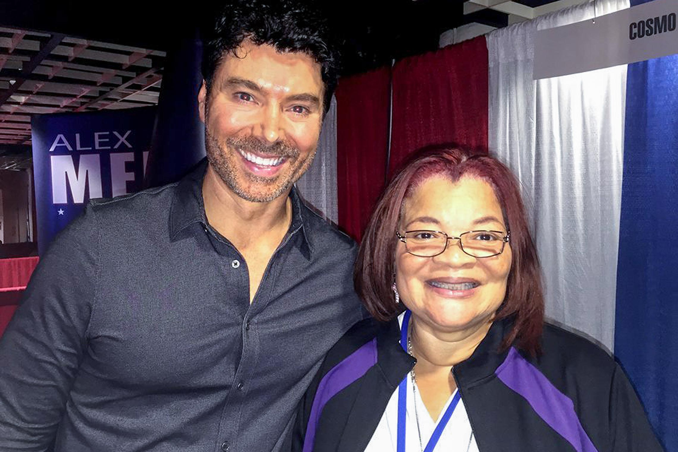 Benjamin Dane with Alveda King in Washington, D.C.