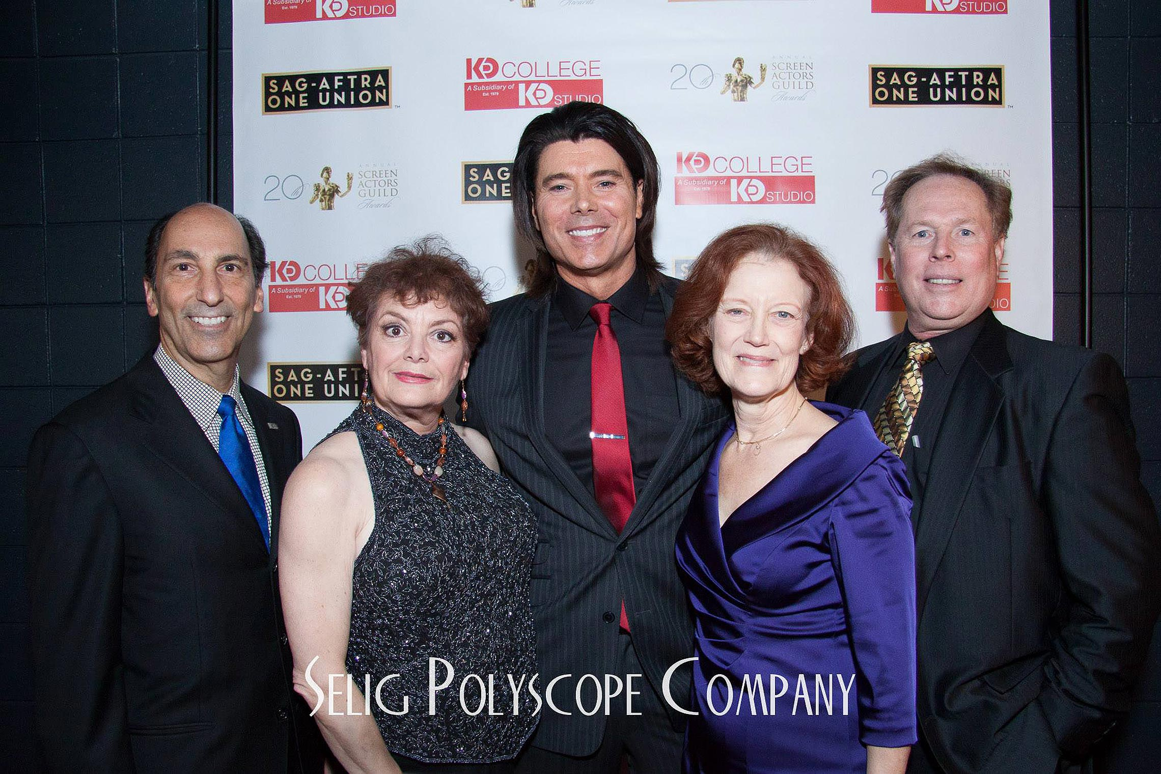 On the red carpet at the SAG Awards with Hector Garcia, Jacqueline McCall, Benjamin Dane, Gail Cronauer, and Brian Dakota.