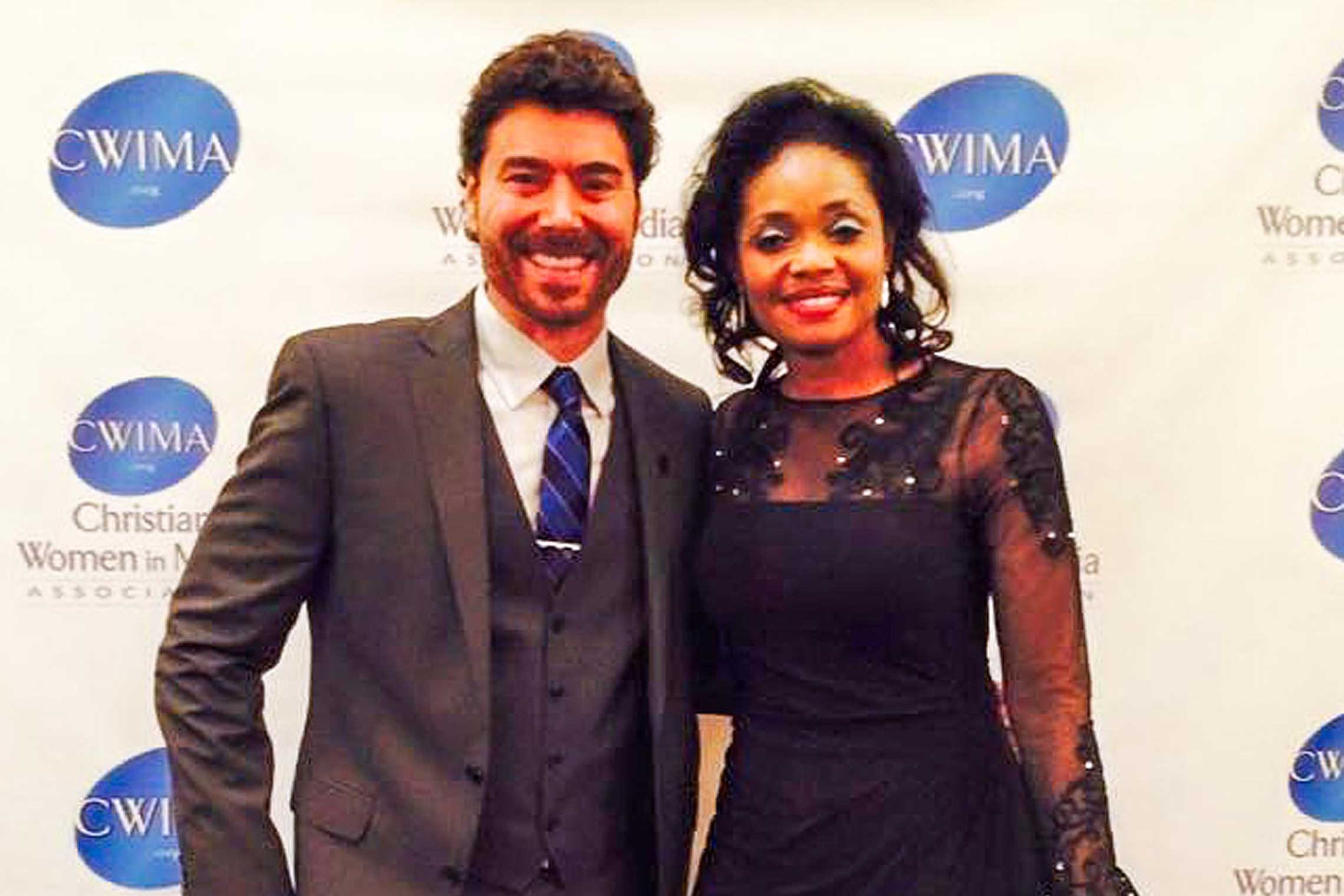 Benjamin Dane with Doris Oboli at the CWIMA Platinum Awards Gala.