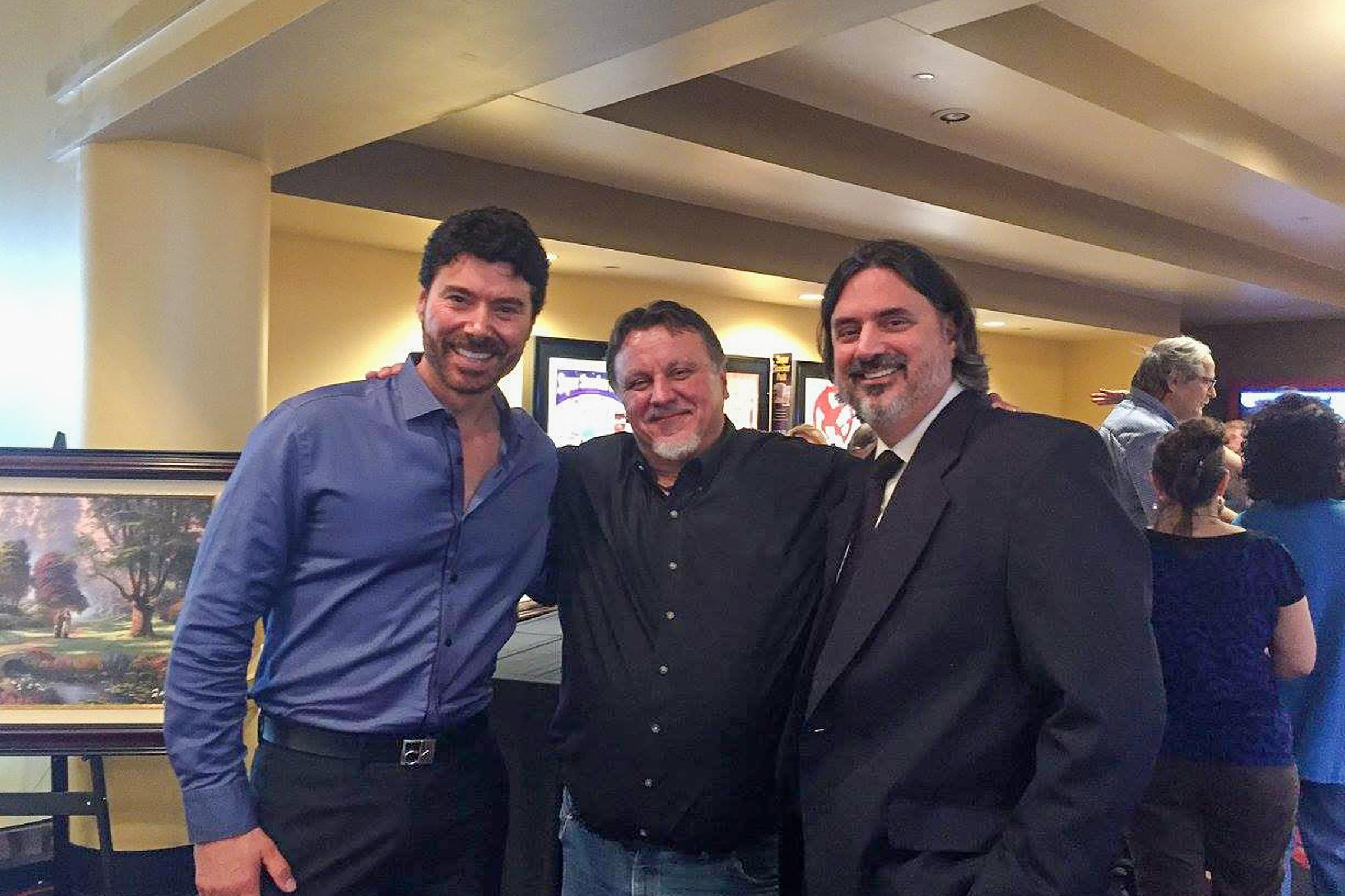 Benjamin Dane with Pat Kinkade and Andrew Librizzi at the Kinkade premiere of <em>Beyond The Farthest Star<em>.