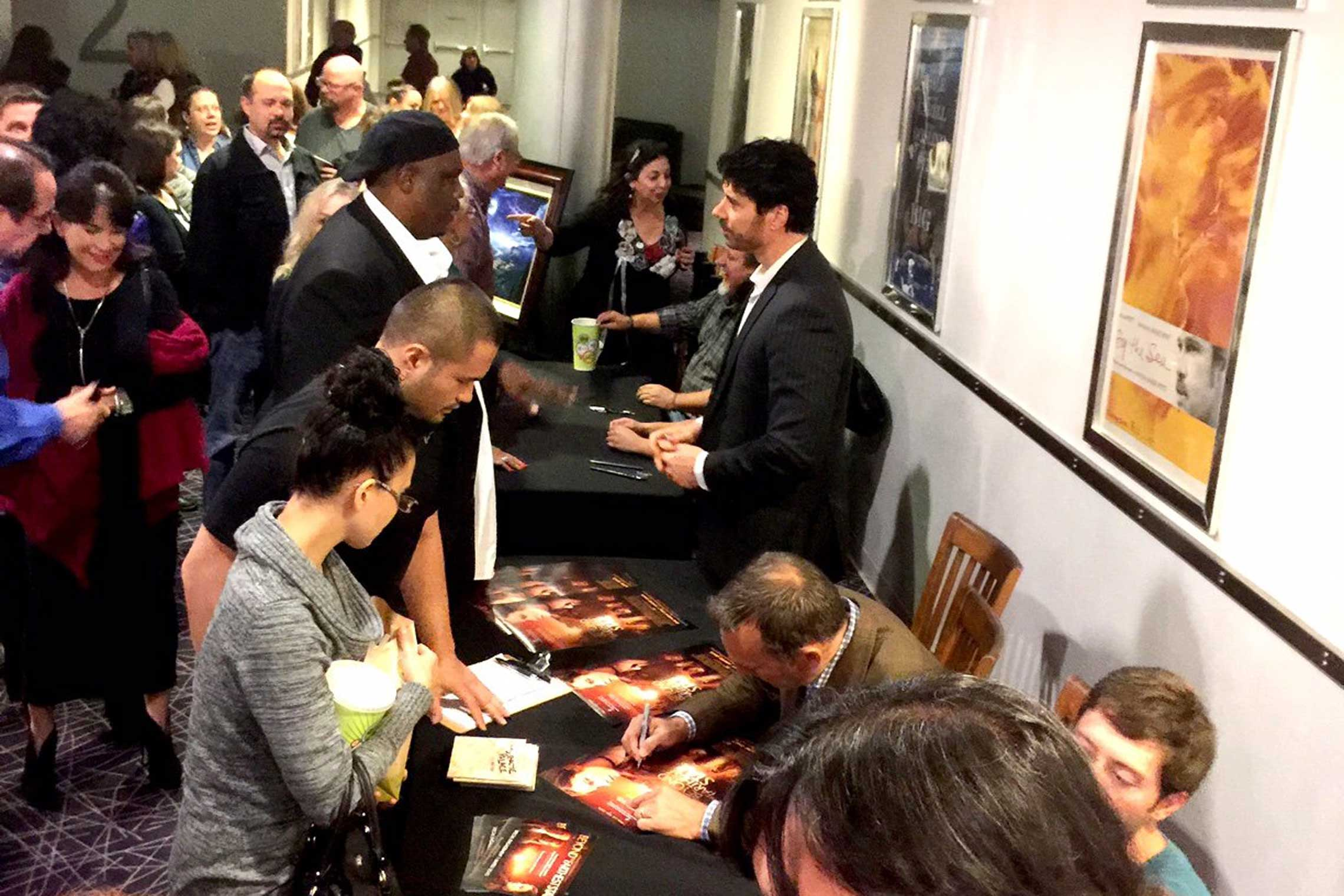 Cast signing at the Dallas screening of <em>Beyond The Farthest Star<em>.