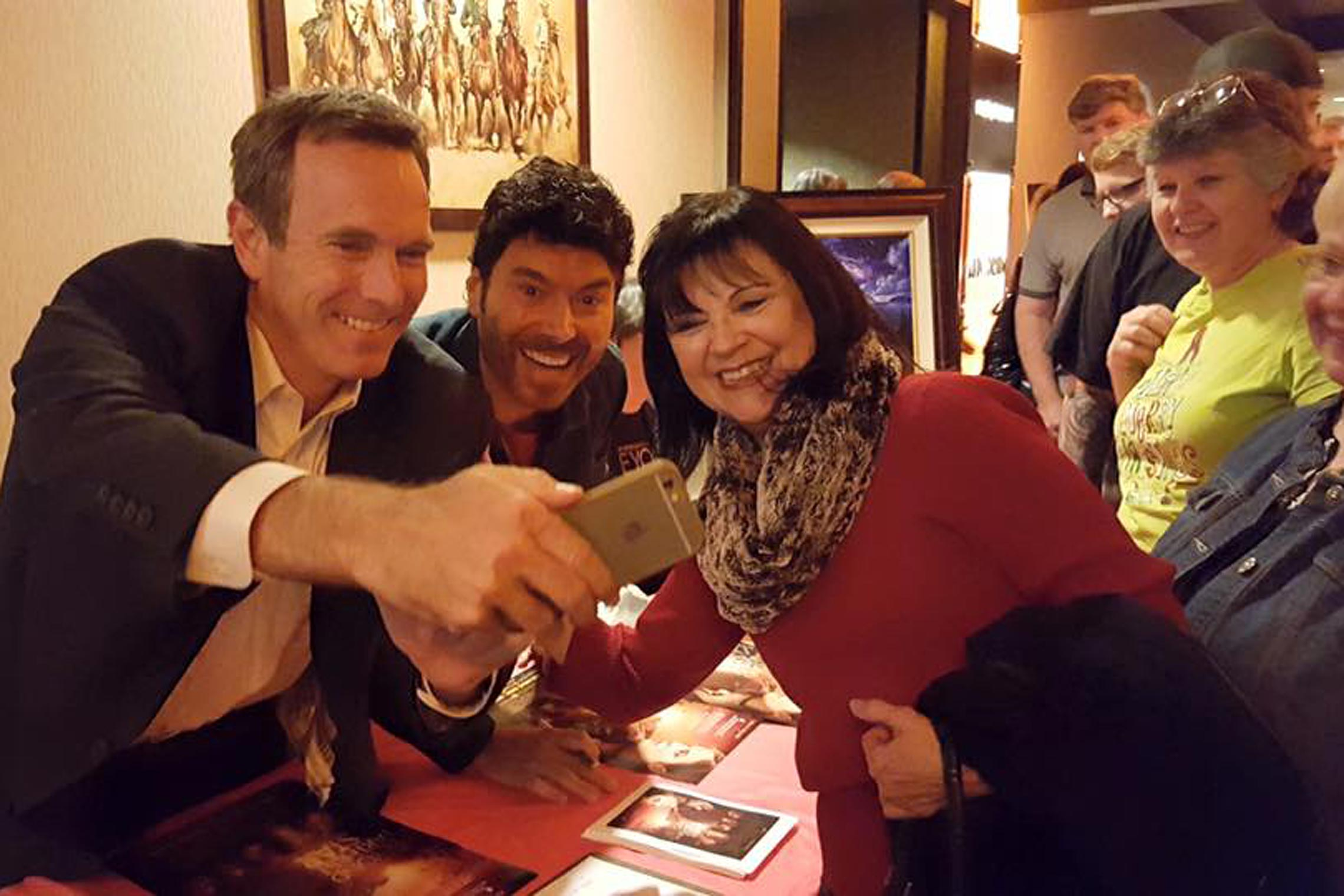BTFS cast signings with Todd Terry and Benjamin Dane as we pose for a fan selfie!
