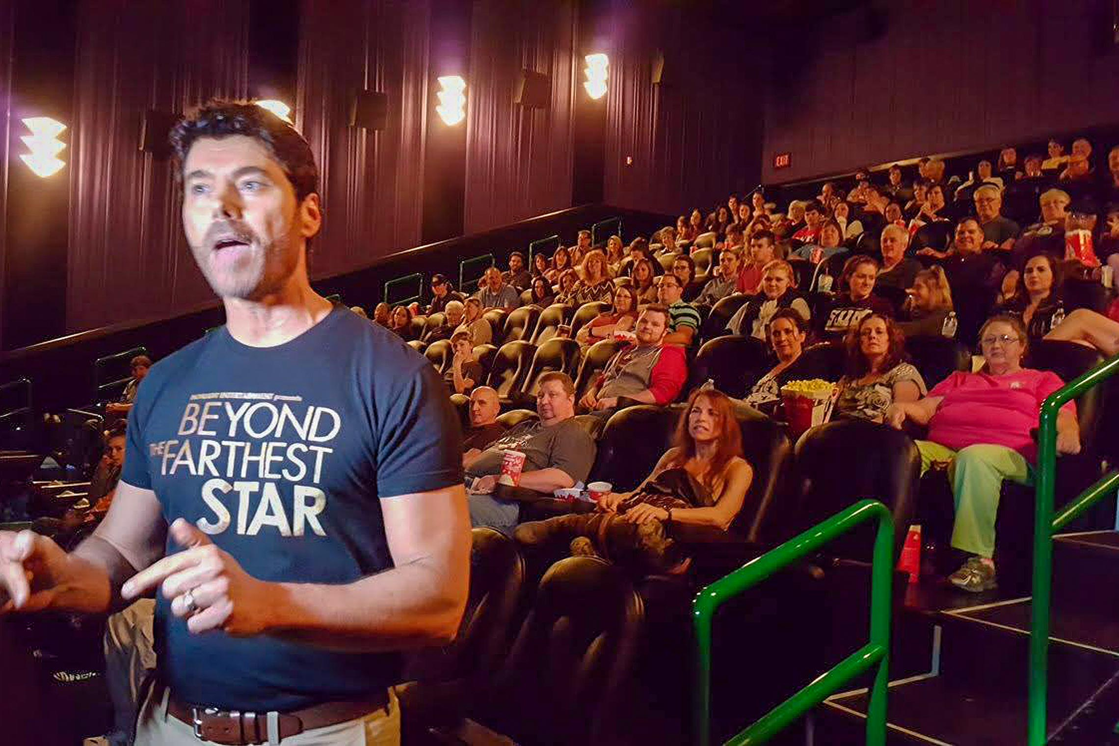 Live footage of the <em>Beyond The Farthest Star</em> screening in West Monroe, L.A.