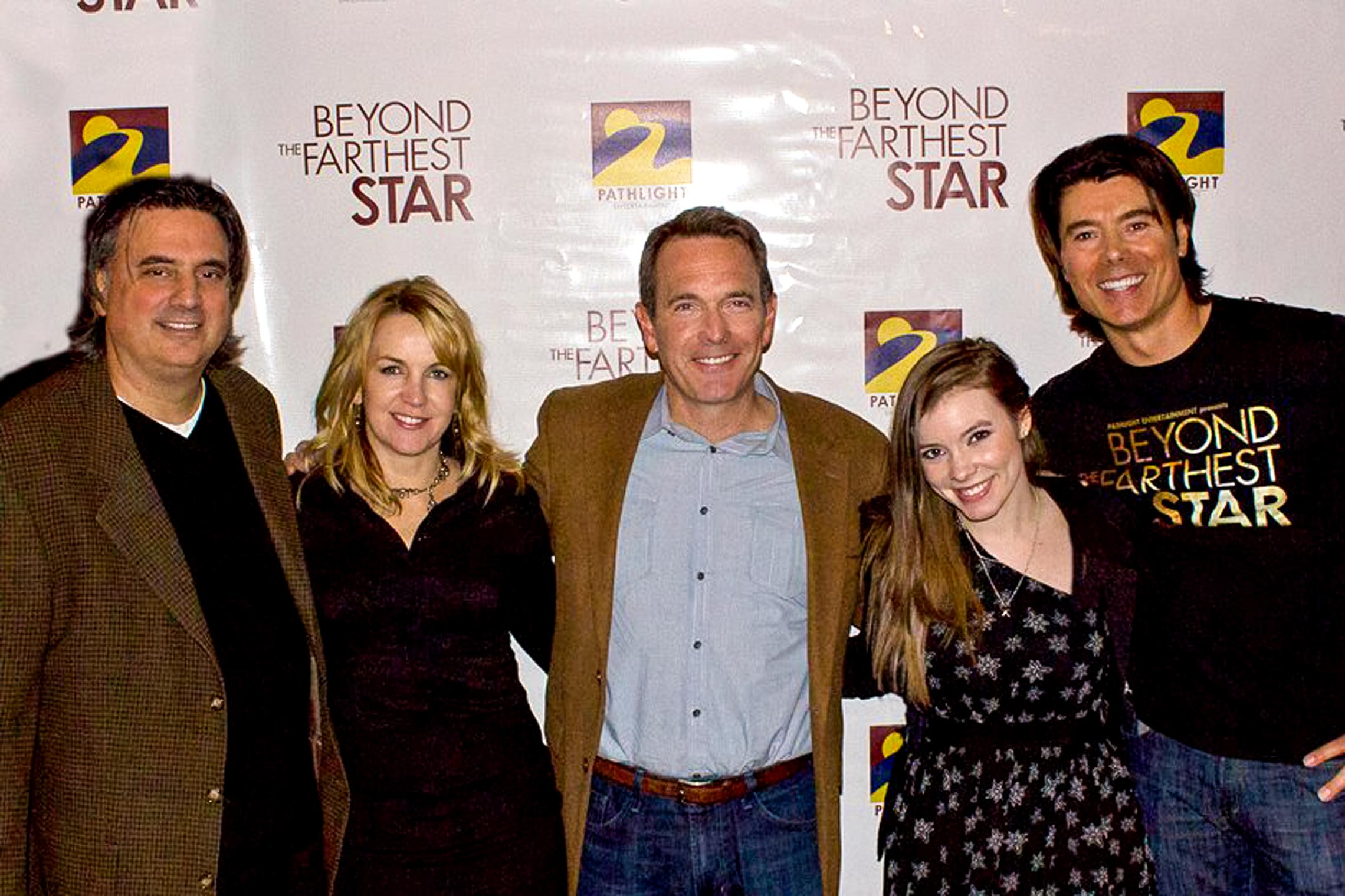 Cast shot with director, Andrew Librizzi, Renee O'Connor, Todd Terry, Cherami Leigh and Benjamin Dane.