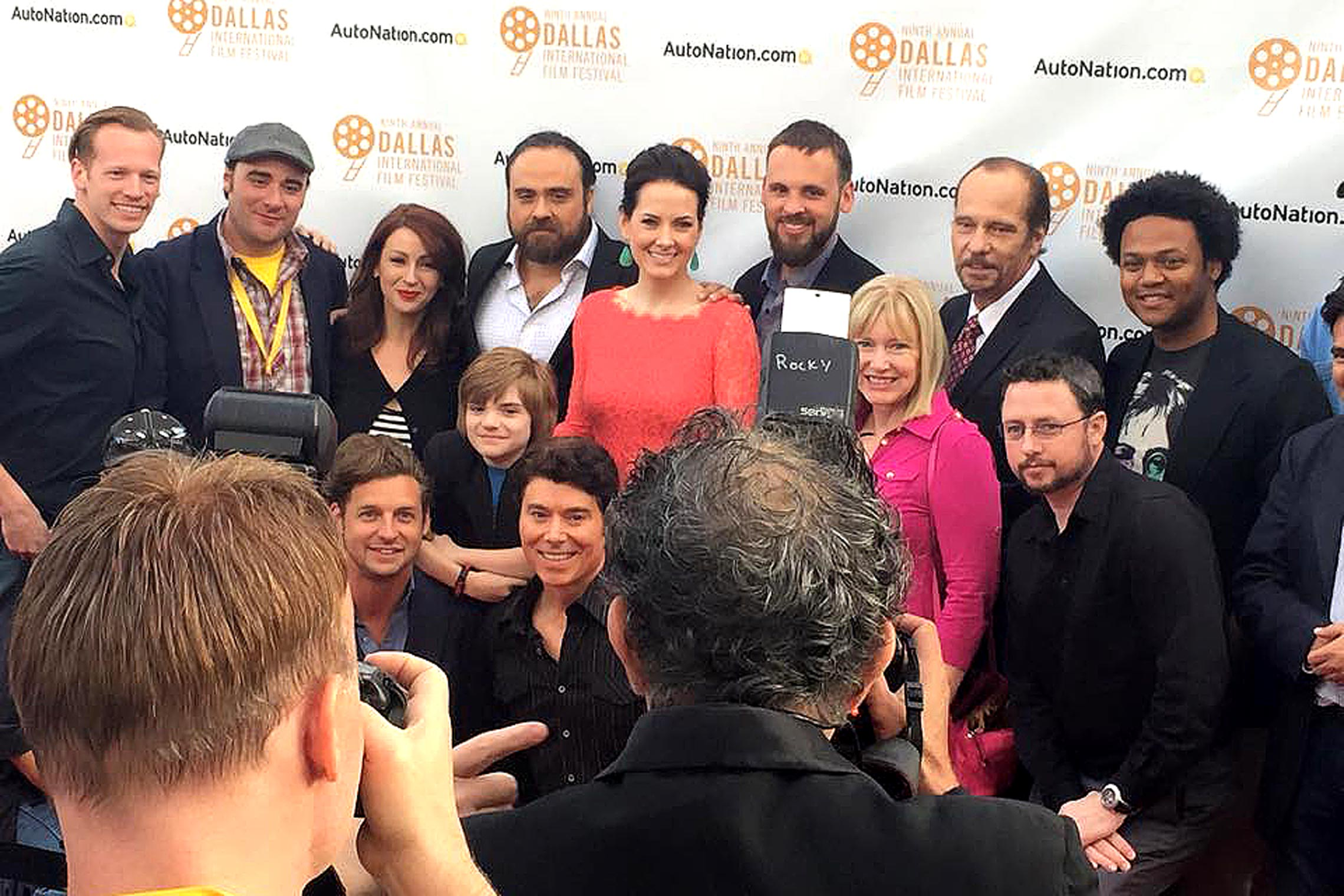 With the cast & directors, on the red carpet for <em>Kill or Be Killed</em> at the Dallas International Festival.