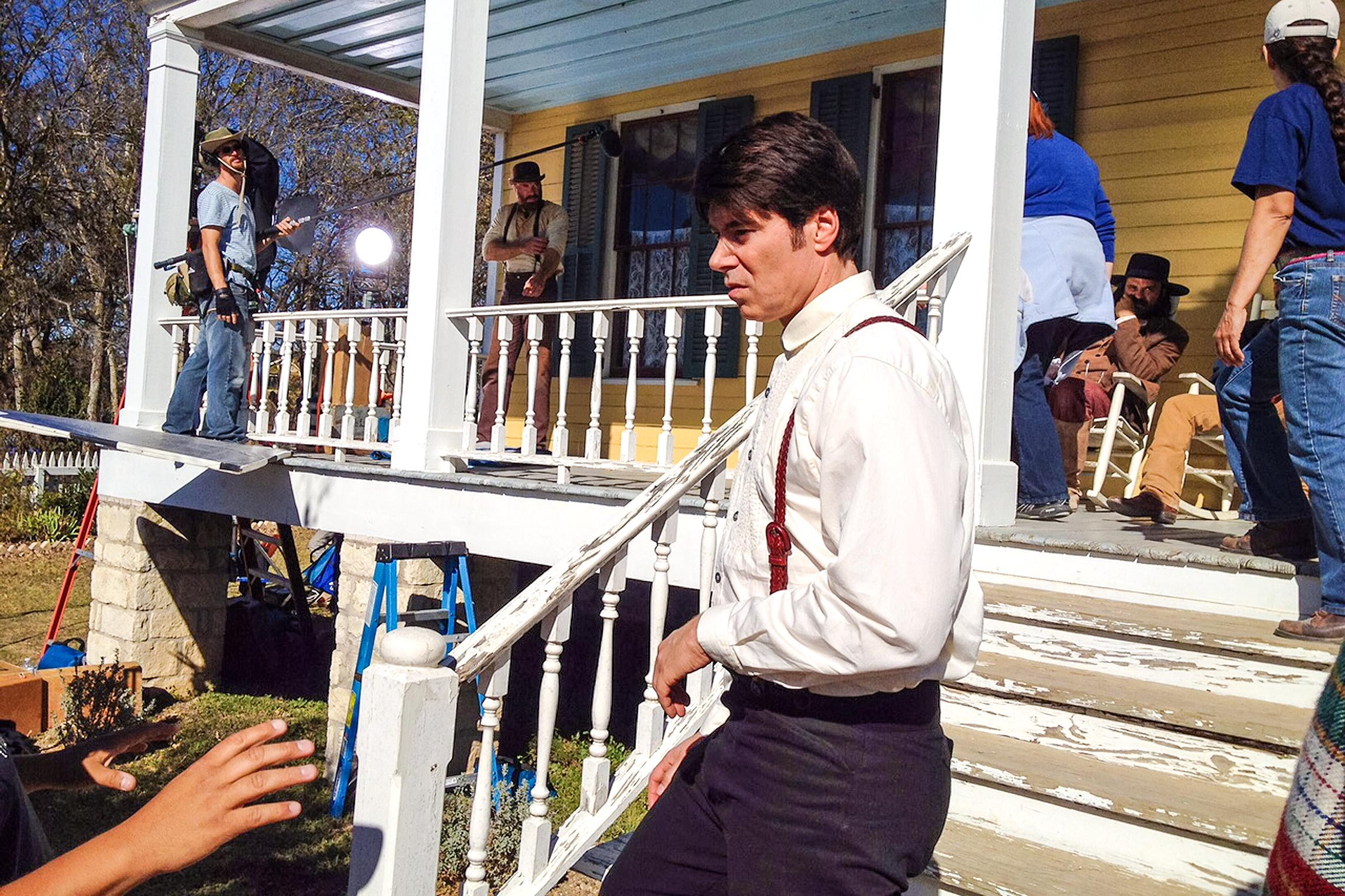 On location at the <em>Kill or Be Killed<em> set as Benjamin prepares for the scene.