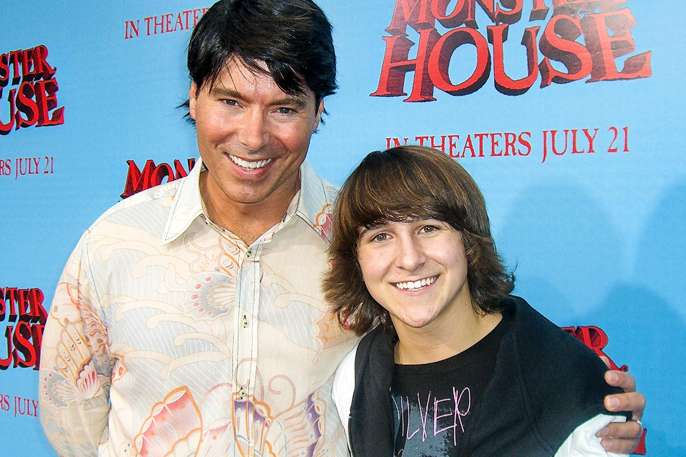On the red carpet with Mitchel Musso at the premiere of <em>Monster House</em> in L.A.