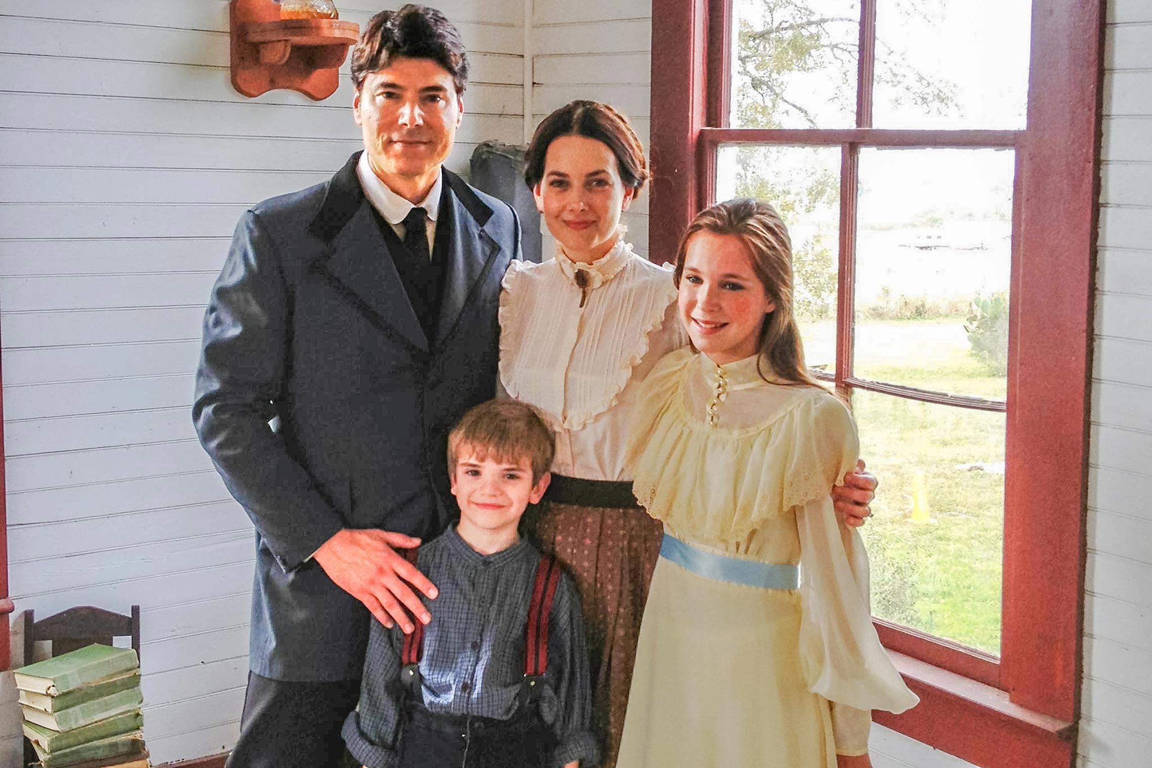 Benjamin Dane with Karie Cox, Kennedy Smith and Sawyer Bell in <em>Kill or Be Killed</em>