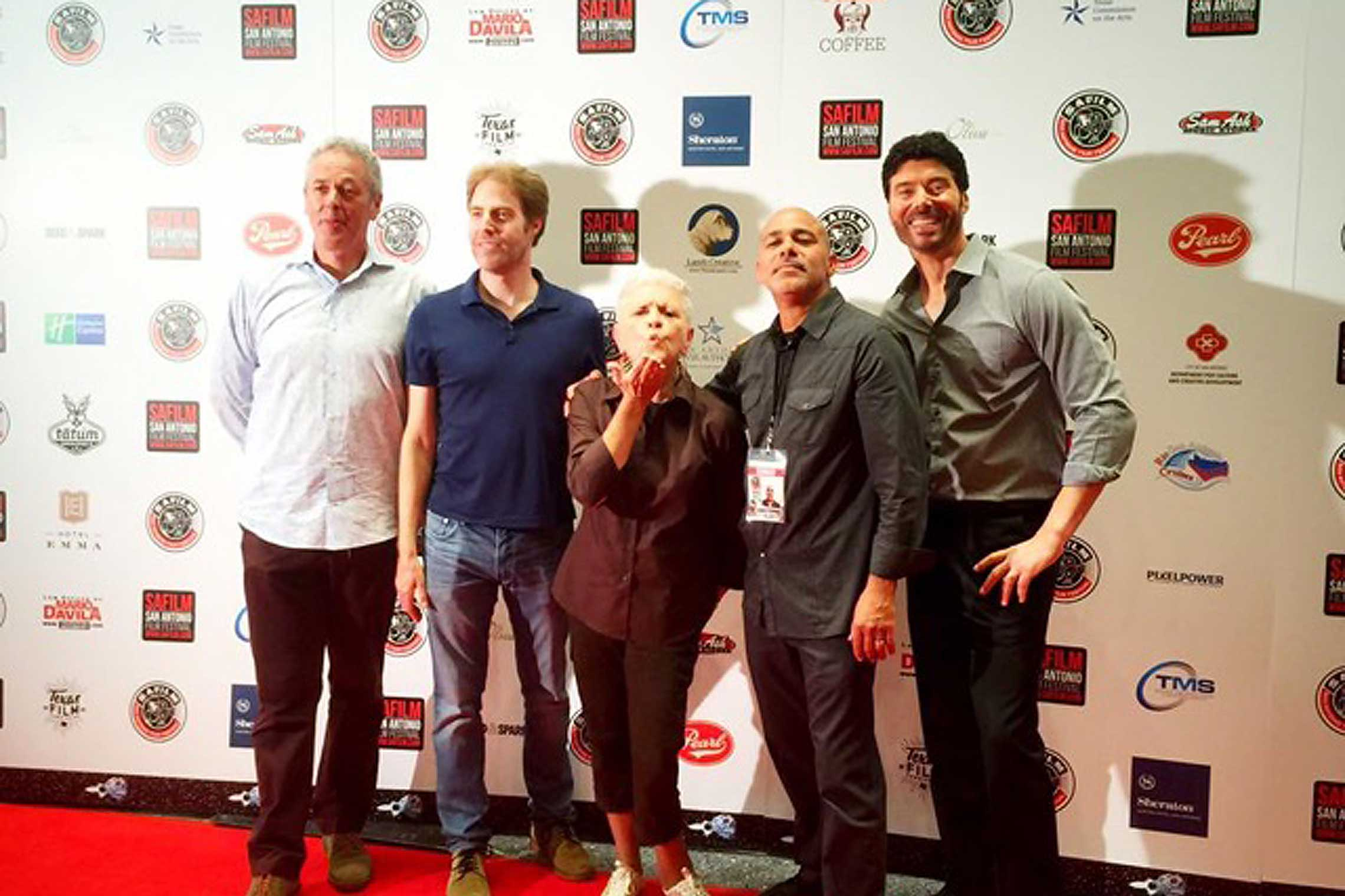 Producer John Cook, writer Hanz Wasserburger, star Lana Dieterich, director Wallace Weatherspoon and Benjamin Dane.
